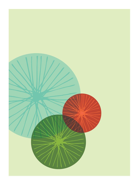 Mid Century Modern Bike Art Print //  Free Shipping - FatEyeDesign