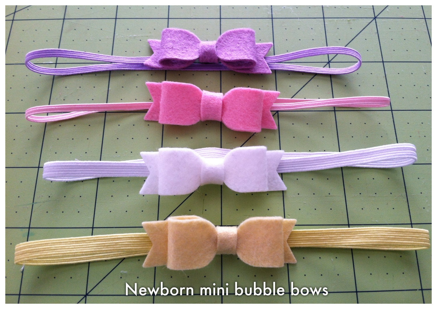 2 Large Felt Hair Bows in 80 colors- Newborn gift, Felt Classic Bow, Photo Prop