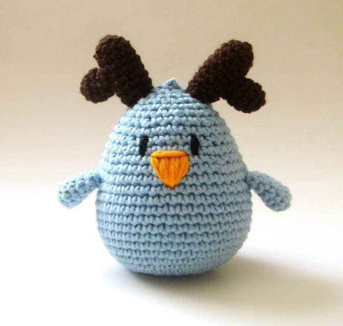 Blue Reindeer Bird