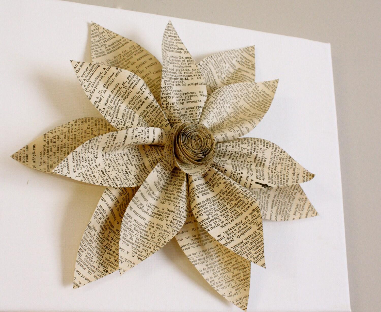 Белый холст с цветка старинные бумаги