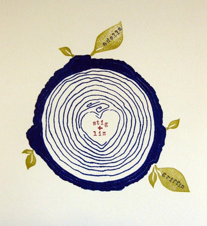 custom family tree -- blue