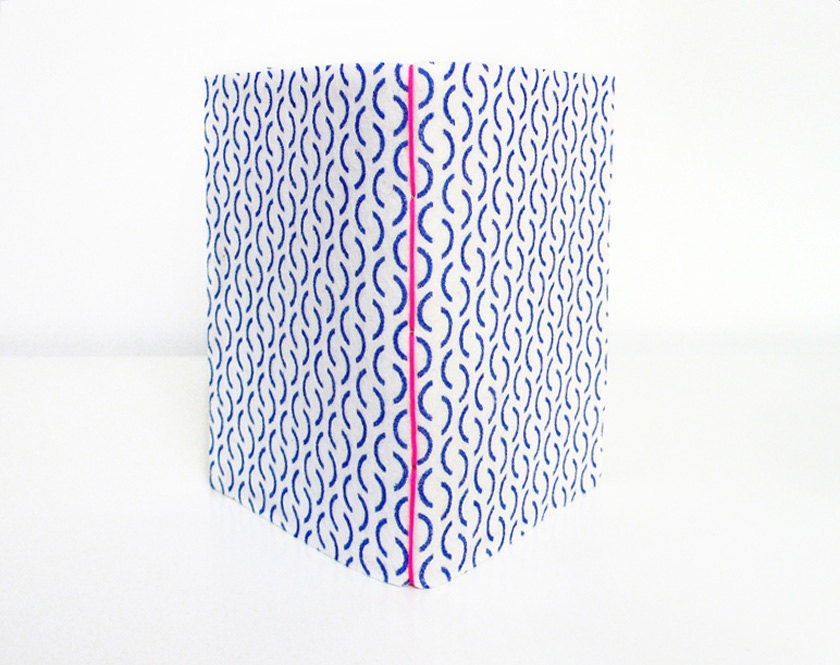 Blue pattern notebook