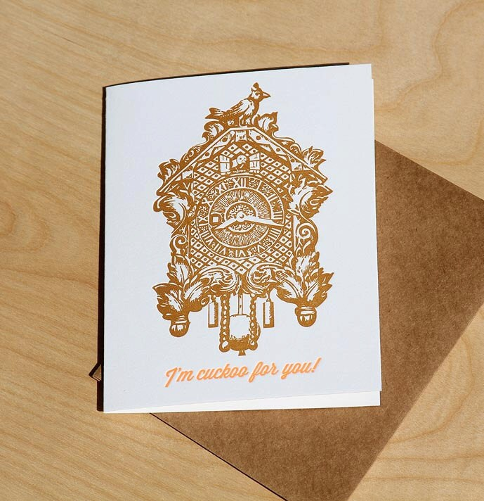 I'm Cuckoo for You, letterpress card - WishboneLetterpress