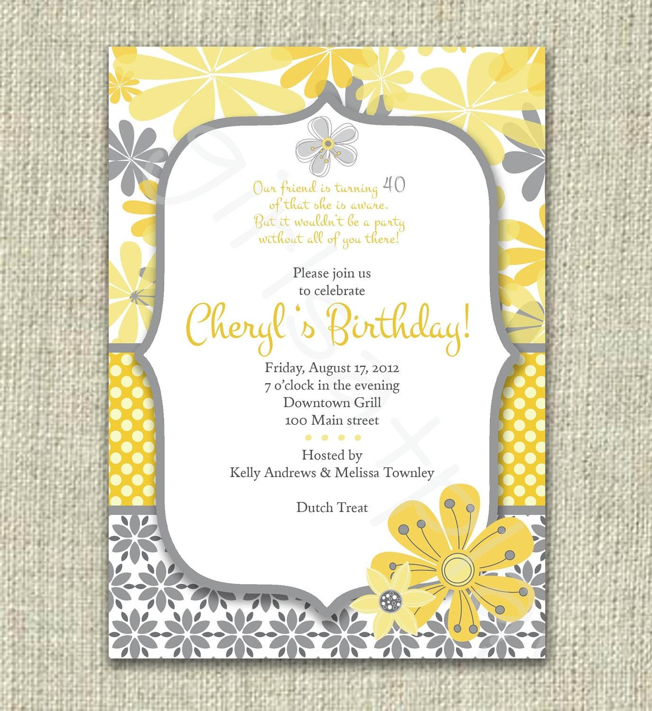 40th Birthday Invitation Sayings For Women