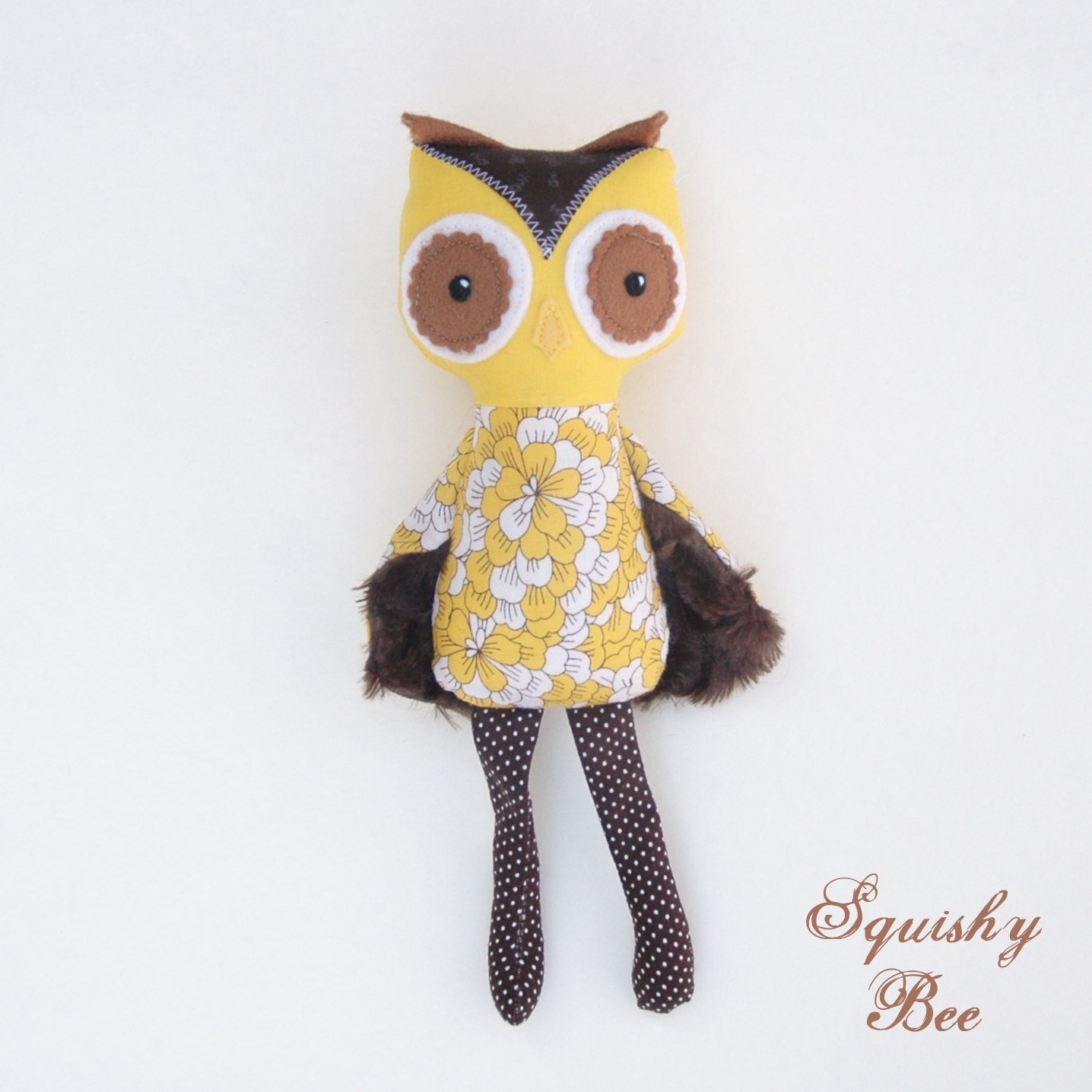 Sunflower the Mini Owl Plush Toy - SquishyBee