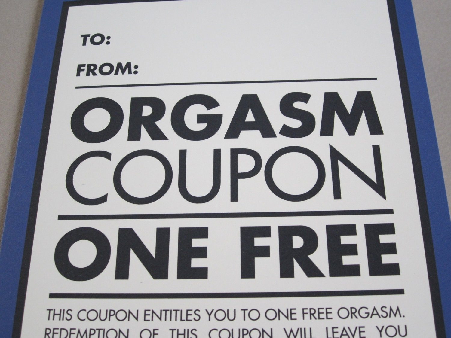"""Funny Valentine's Day Card, Funny Card, Card for Lover - """"One Free"""""""