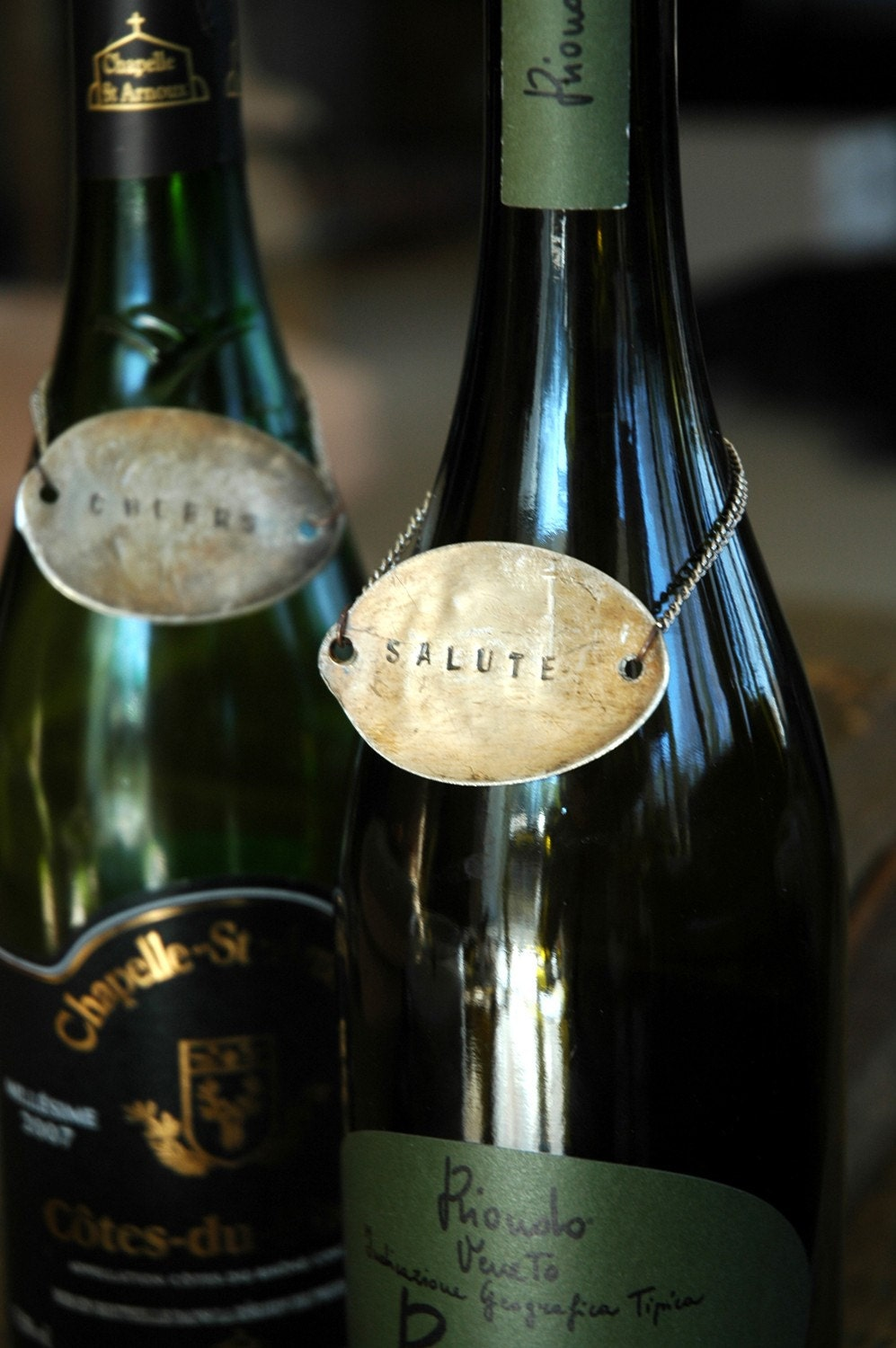 recycled vintage wine tags