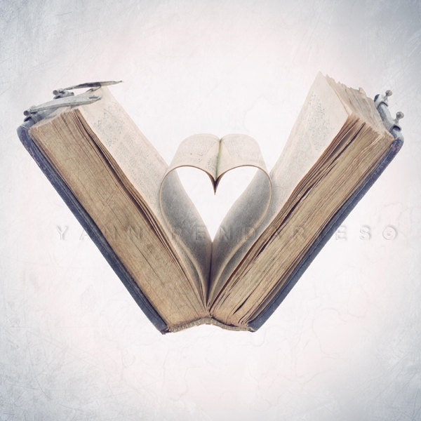 Still life photography, i love you photography, Book lovers, Book Print, Vintage Book, Gifts for book lovers, Valentine day, 8x8(20x20cm) - PhotographyDream