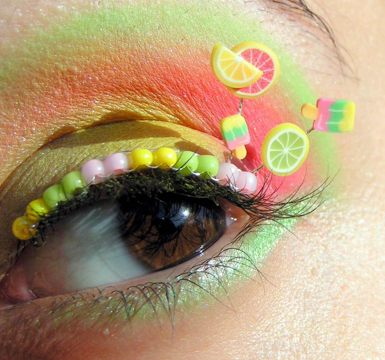 Summer Citrus Popsicle Eyelash Jewelry