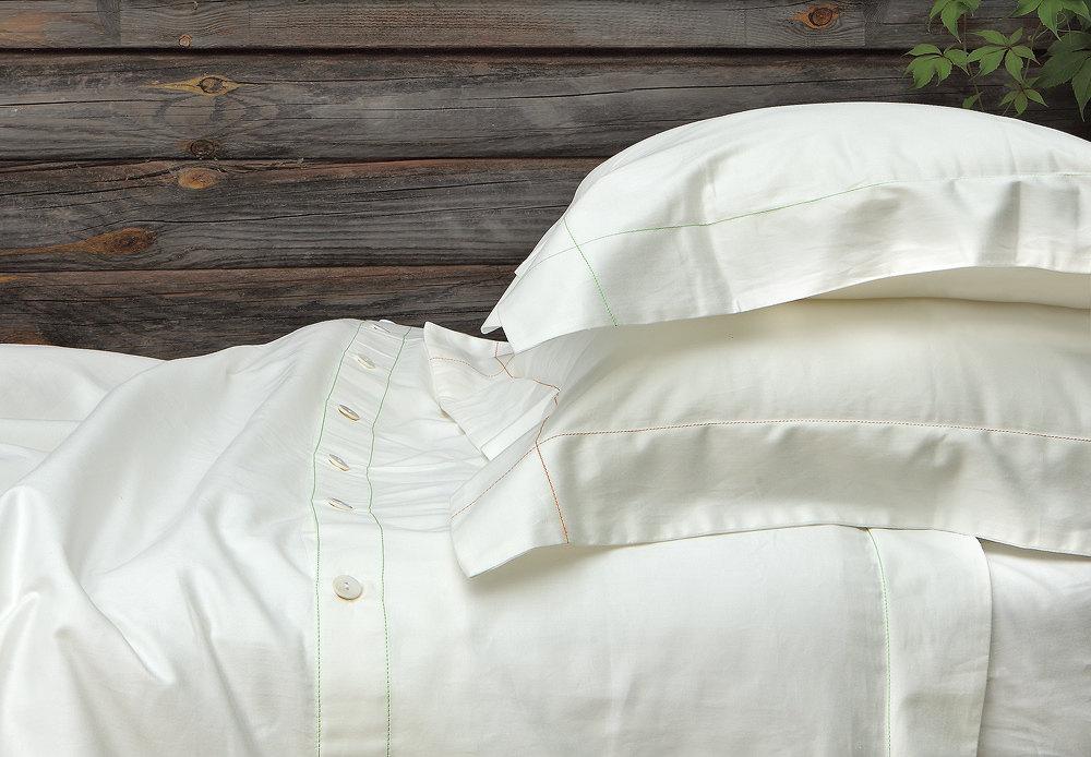 organic bed linen - duvet cover 100 % organic cotton sateen - feneroart