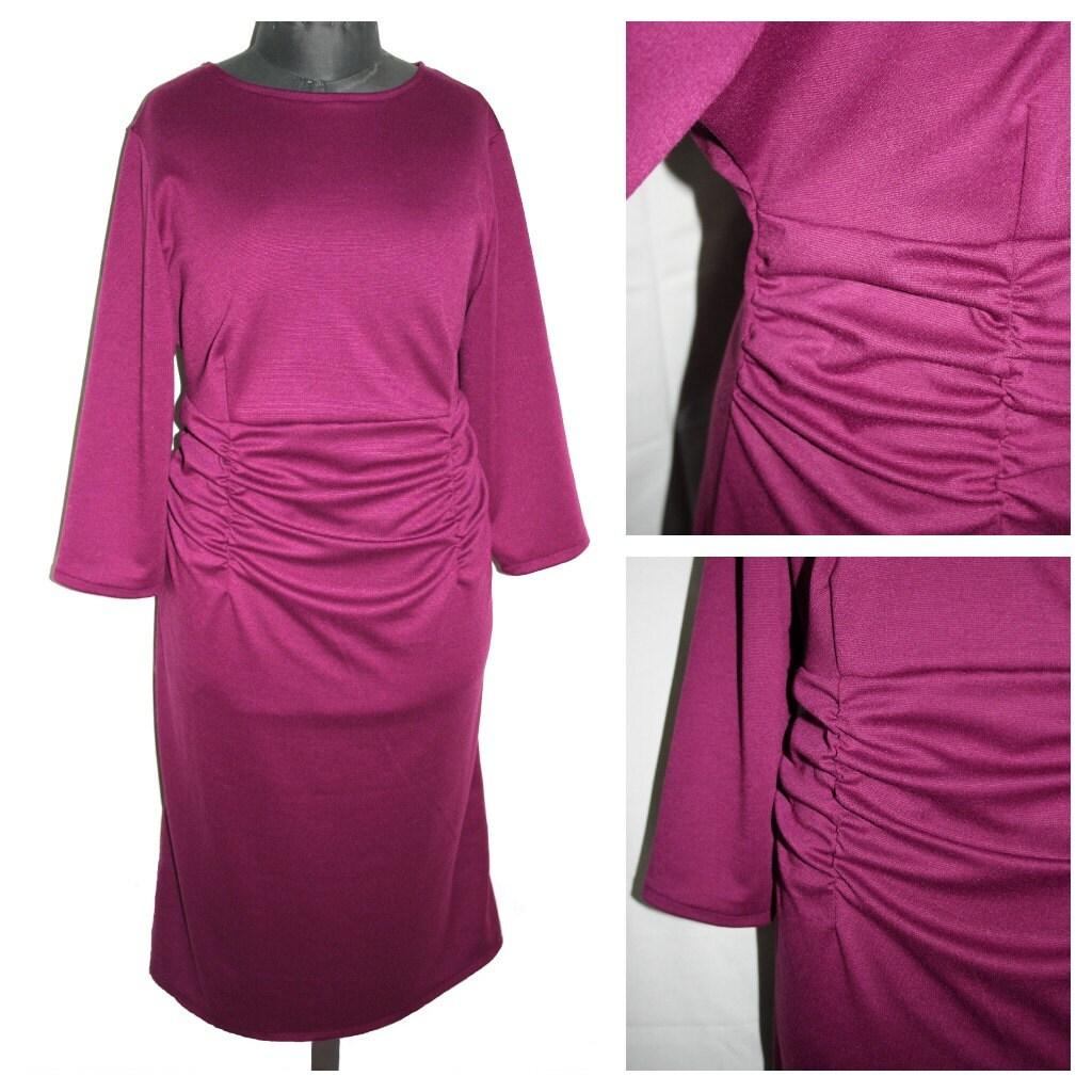 Lilac violet jersey dress