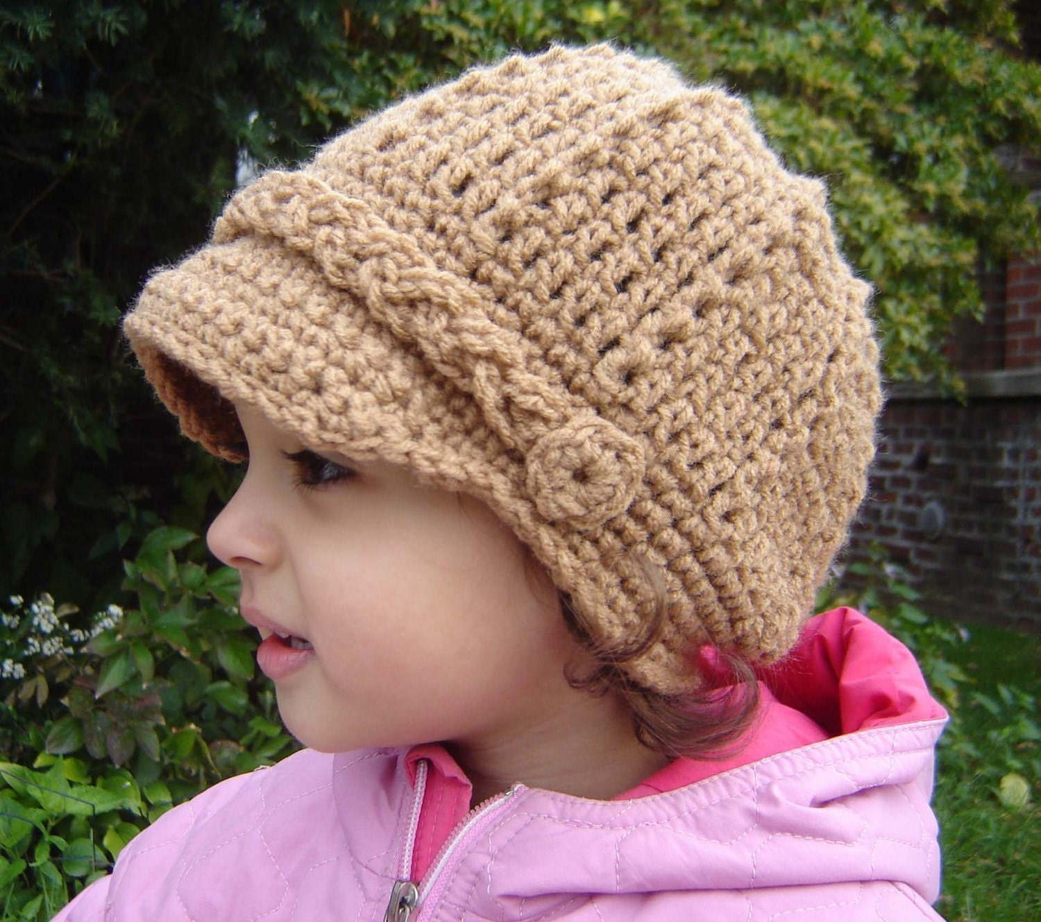 Crochet pattern for child s newsboy hat manet for newsboy cap pattern crochet free pattern bankloansurffo Image collections