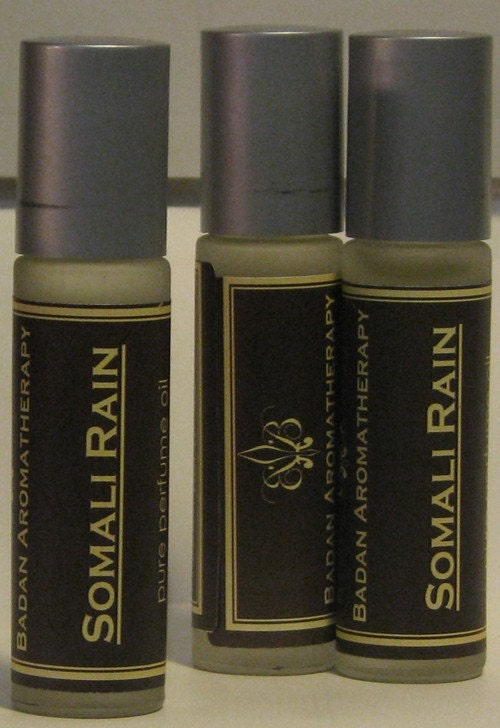 "Bergamot Musk & Amber ""Somali Rain"" Roll On Perfume Oil"
