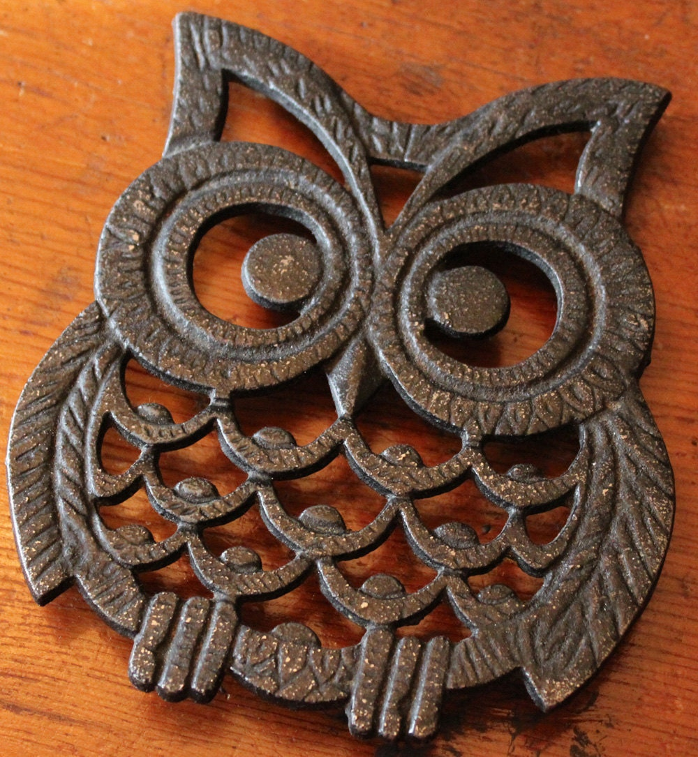 Owl Trivet Wall Decor