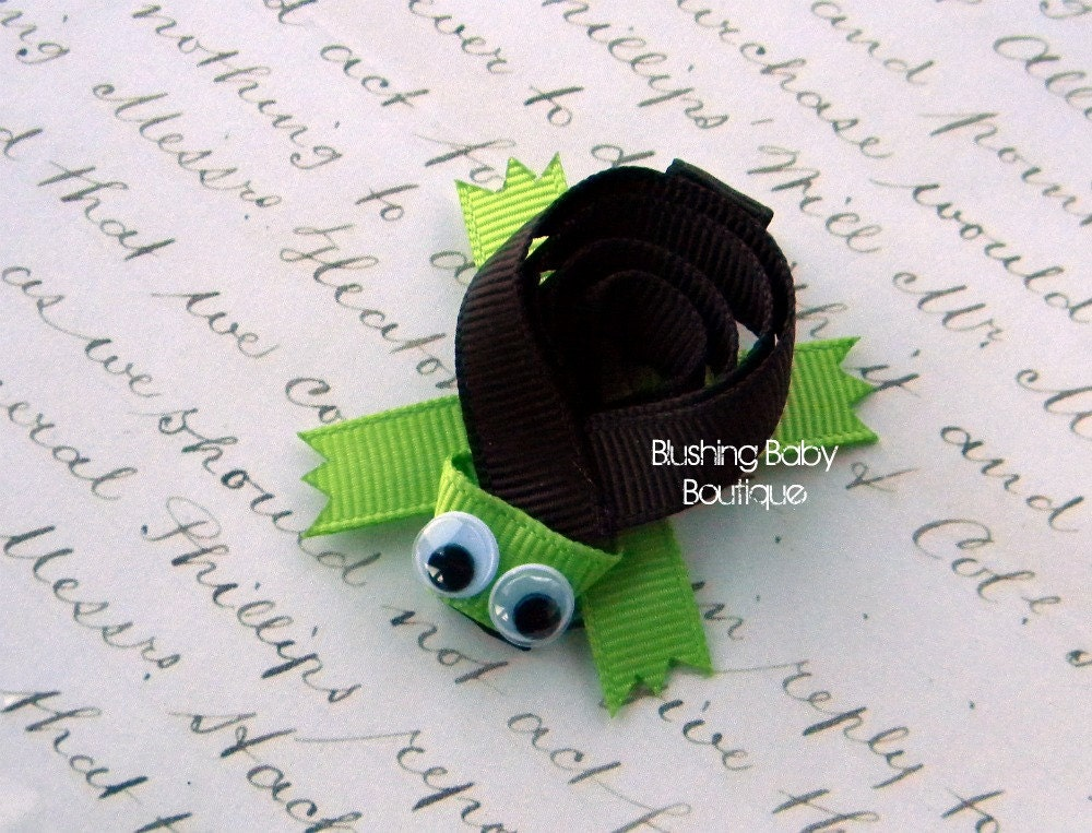 Turtle Hair Clip-- Perfect for Spring-- Birthdays and Baby Showers