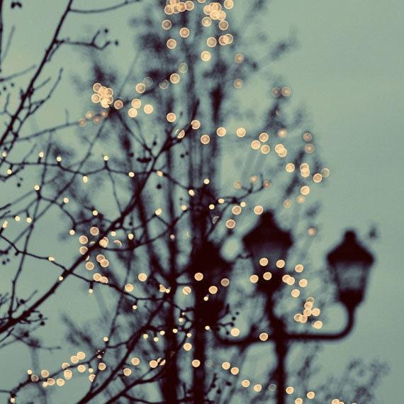 Winter Lights 8x8 Photograph - christmas lights holiday decor magical holiday photography - ellemoss