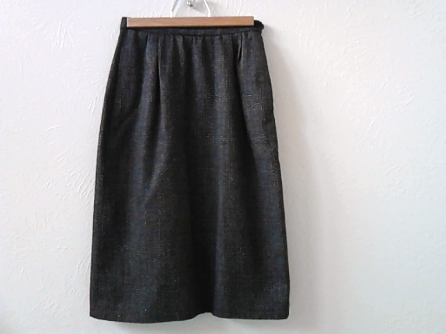 skirt tweed lined straight size 4 vintage back to school - lillysshoppe