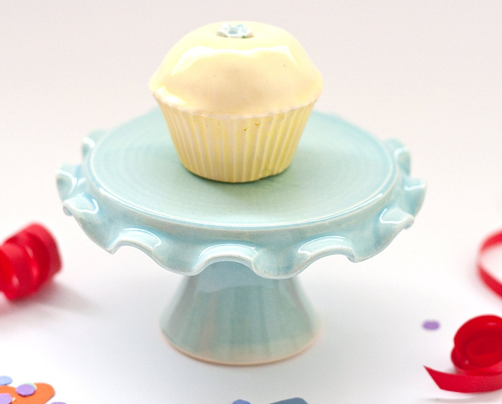 Cupcake Stand SALE - Ruffle - Aqua