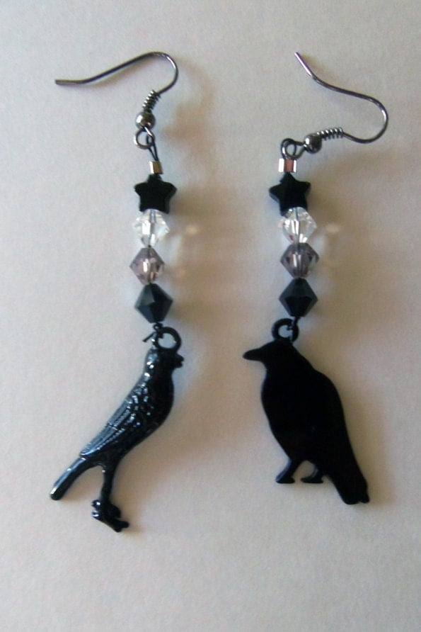 Nevermore earrings by justatouchofmagick
