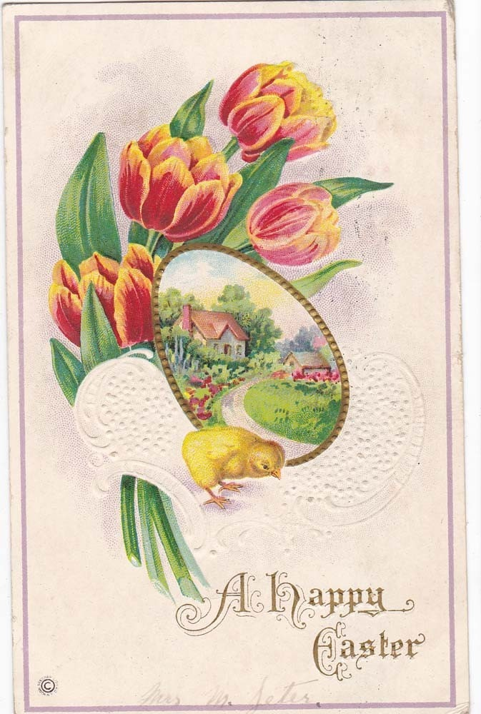 Vintage Easter Post Card Early 1900s epc432