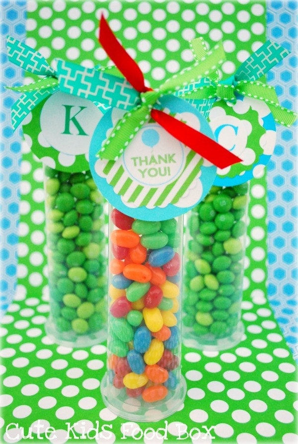 Candy Tubes - Party Favor Tubes Plastic Candy Tubes - 10 Pack