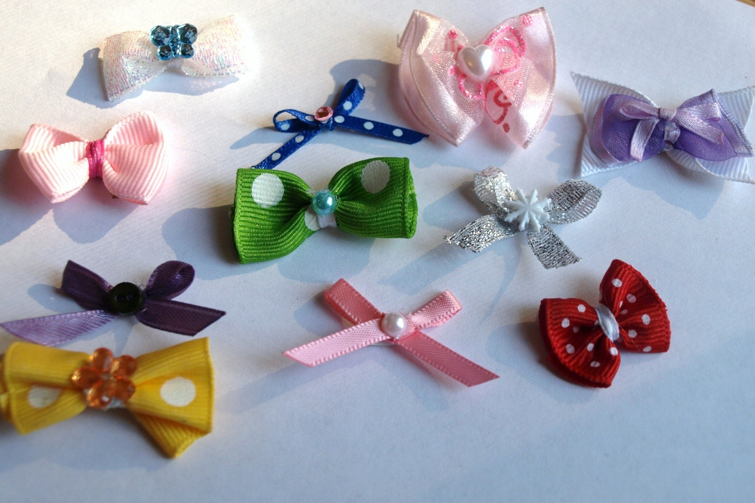 lot of 6 itty bitty bows