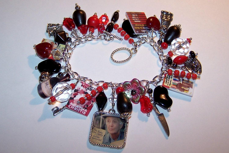 agatha christies miss jane marple artisanal charm bracelet