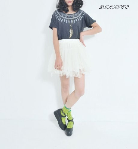 White Cute Bubble Dress - DIANICO