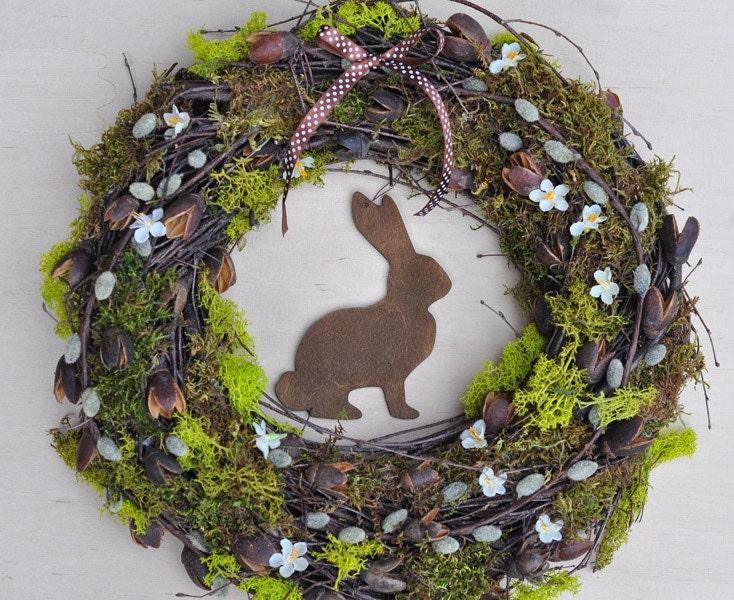 Rustic Easter wreath II - Home decor - Spring wreath - Door wreaths - botanicbotanic