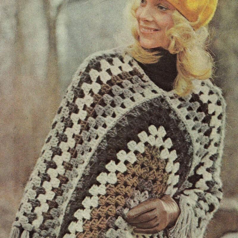 Crochet Patterns For Granny Square Poncho : Granny Square Poncho Pattern Patterns Gallery