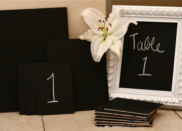 Table Number Chalkboard Frame Insert 11x14 Country Chic Decor for Weddings