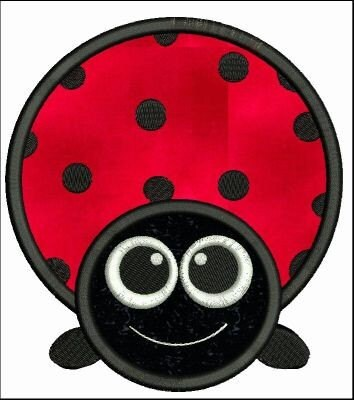 Heart Shaped Ladybug - Needle Passion Embroidery Free Embroidery