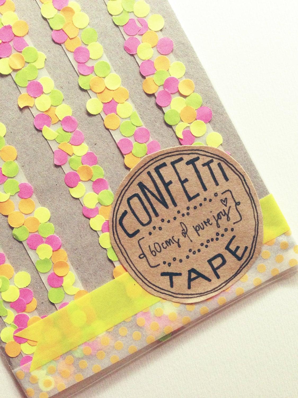 Pretty Handmade Neon Confetti Tape