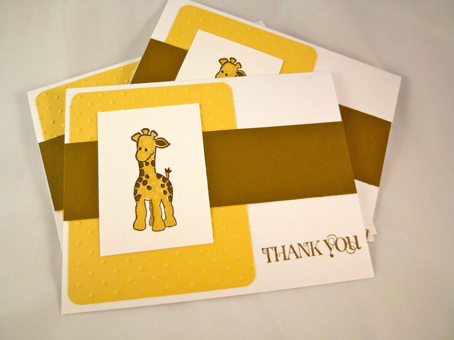 Etsygreetings Handmade Cards Baby Giraffe Blank Thank You