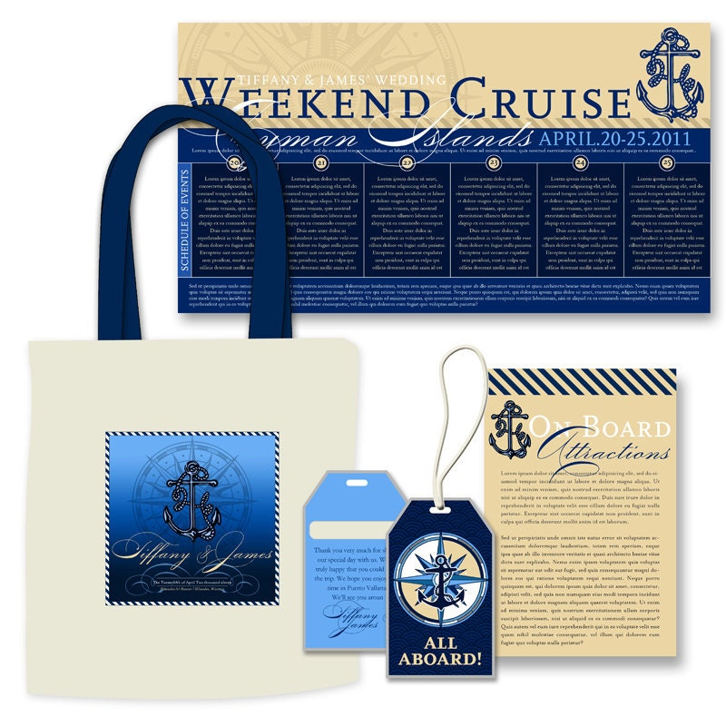 Cruise Wedding Welcome Kit From AprilTwentyFive
