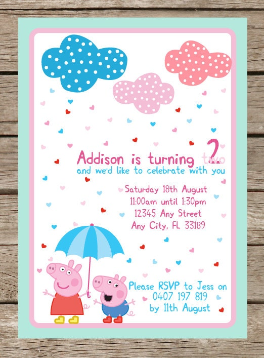 peppa pig party supplies - shopping guide - lifes little celebration, Party invitations