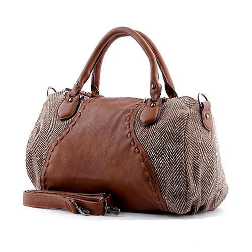 NEW COLLECTION Vegan Leather & Textile Purse Handbag Rachel