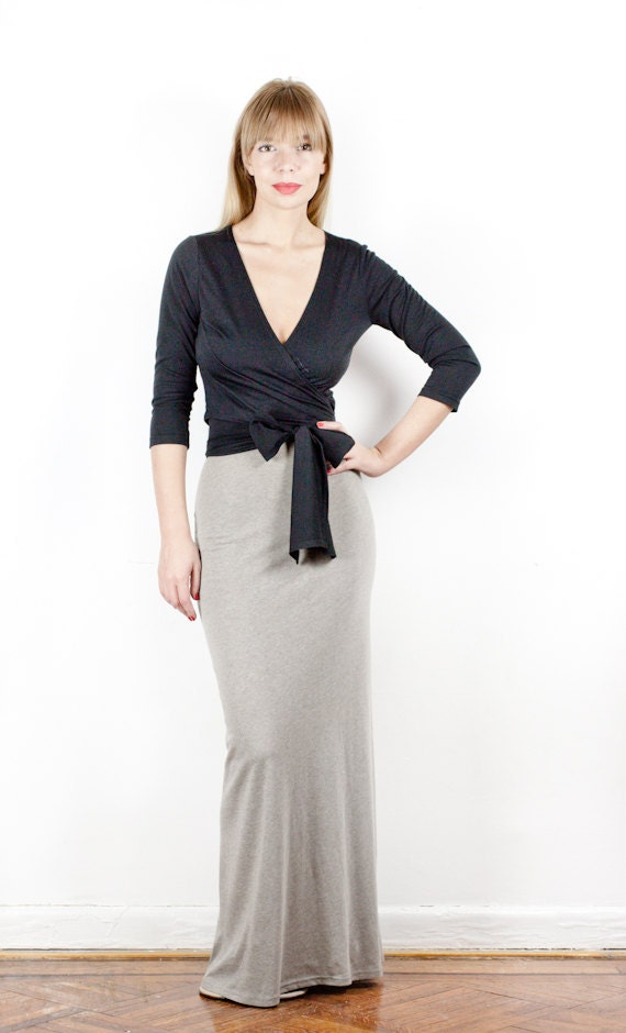Sexy Cotton Jersey Fishtail Maxi Skirt - Made-To-Measure