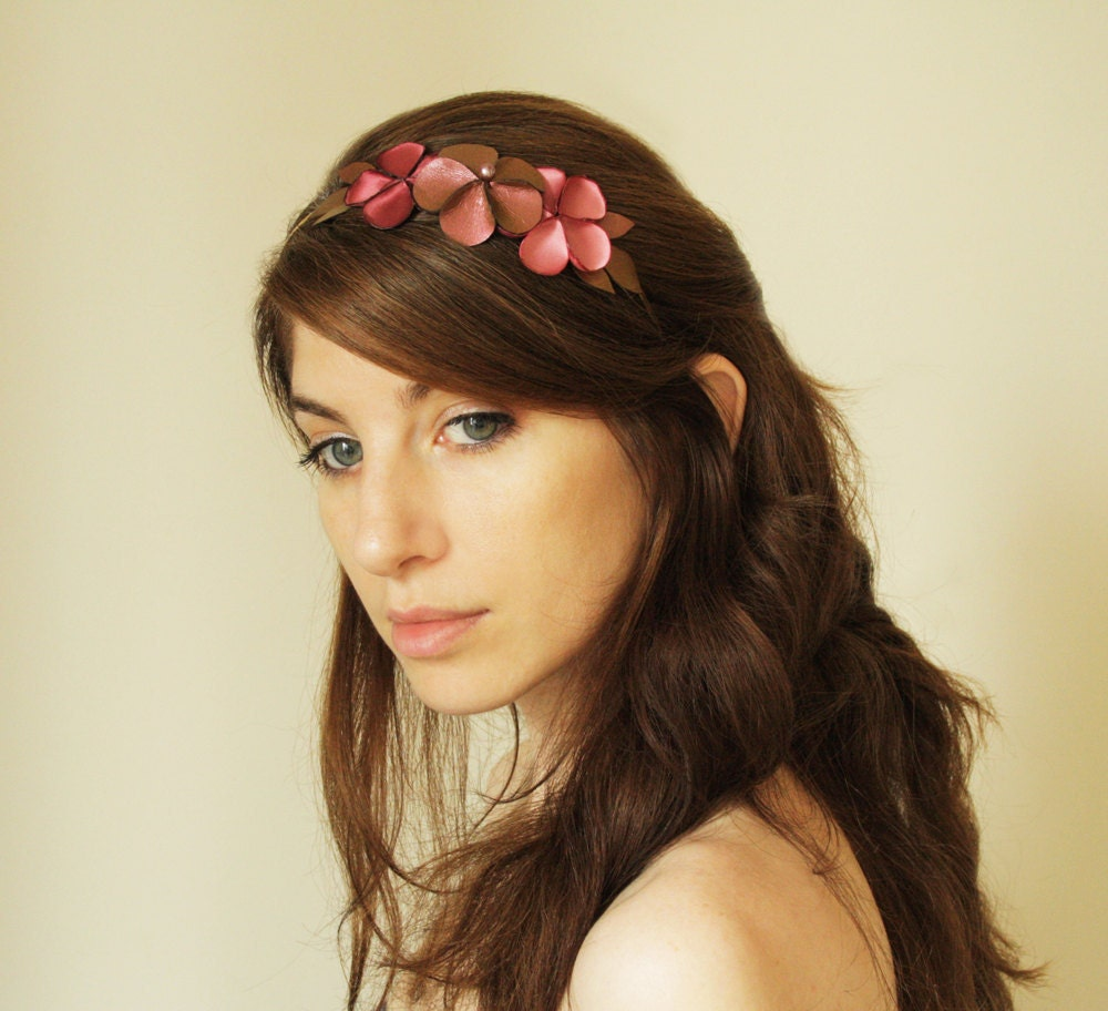 Cassiopeia - Rose floral headband