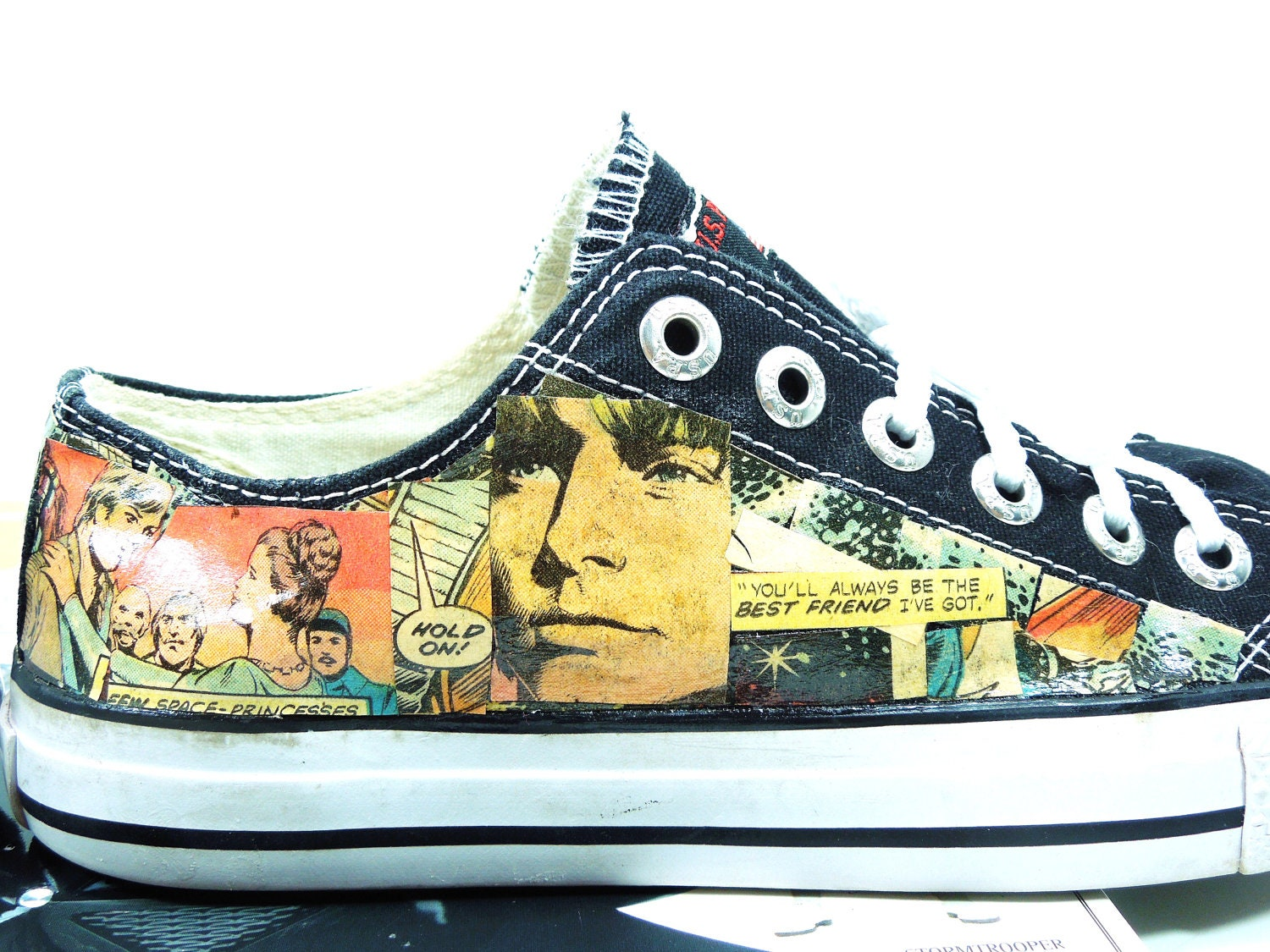 Women's Star Wars Comic Book Sneakers. Summertime. Cool Shoes for Geeky Girls. College Student. Birthday. Geek Gift. - Moonlightdecorator