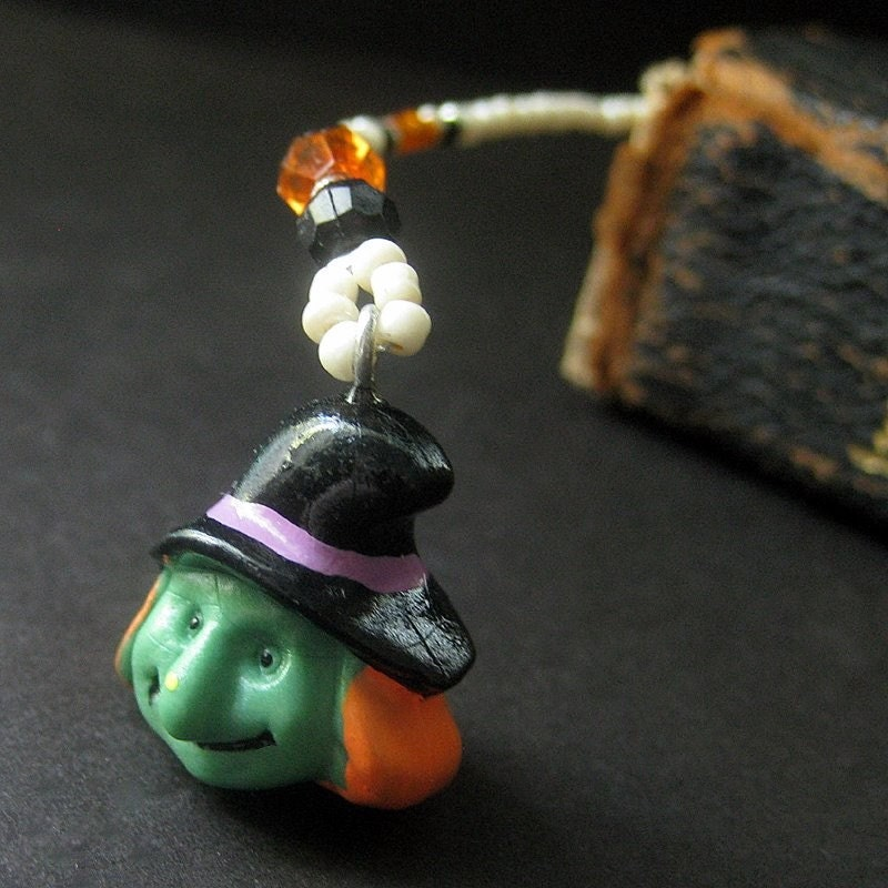 Beaded Bookmark Halloween Witch Book Marker