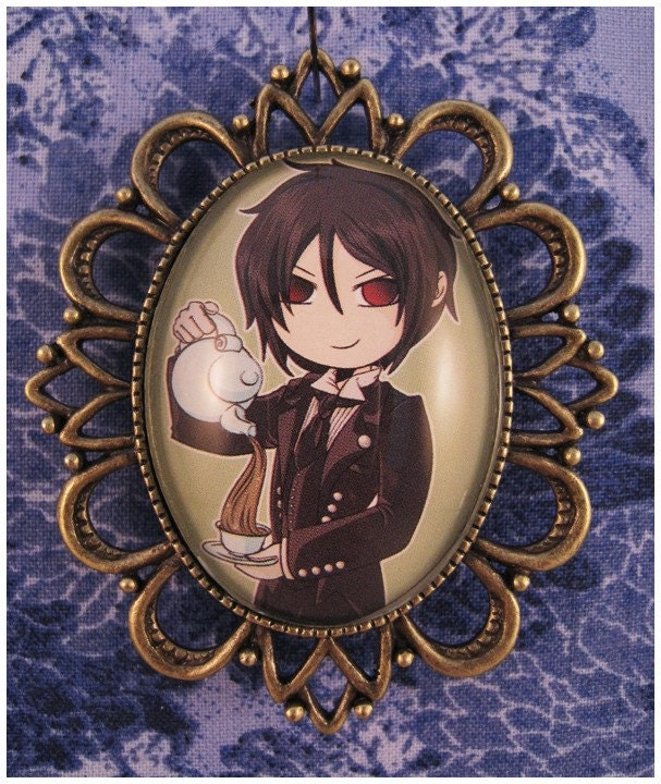 SALE Kuroshitsuji Black Butler SEBASTIAN Button