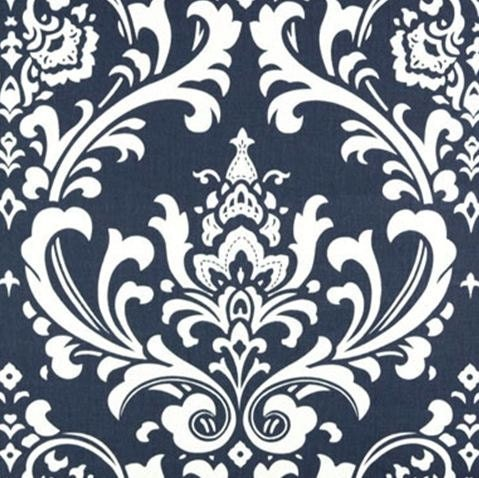 Wedding Navy Blue and White Damask Table Runners FREE SHIP