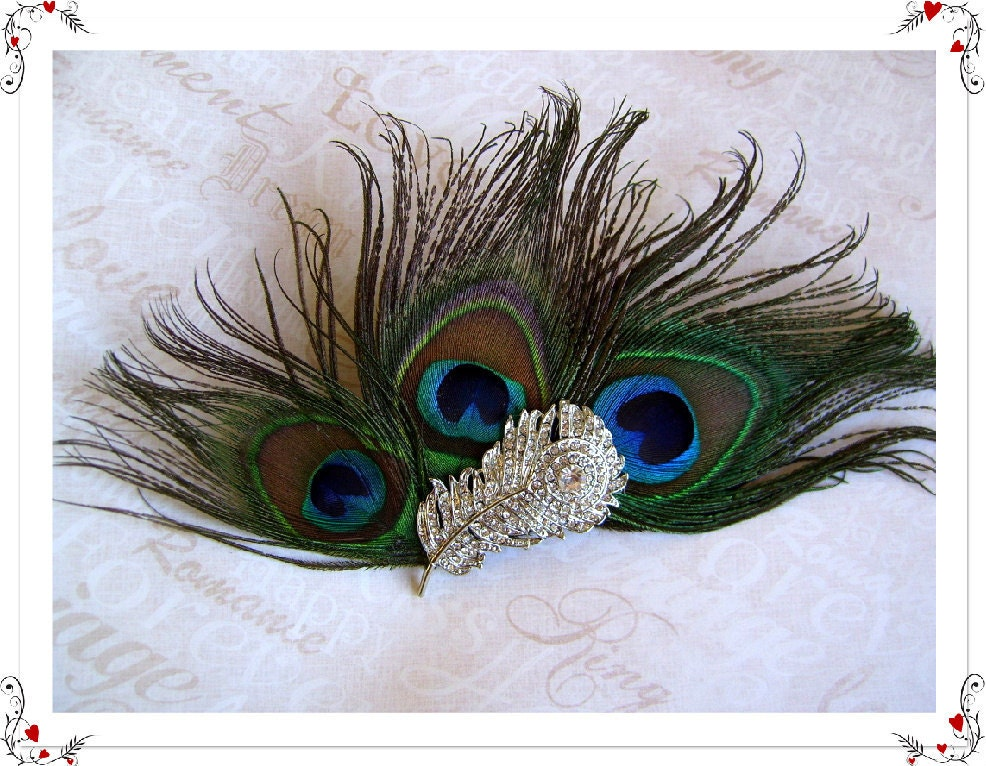 Peacock Feather Bridal Fascinator Peacock Wedding Bridal Veil Fascinator