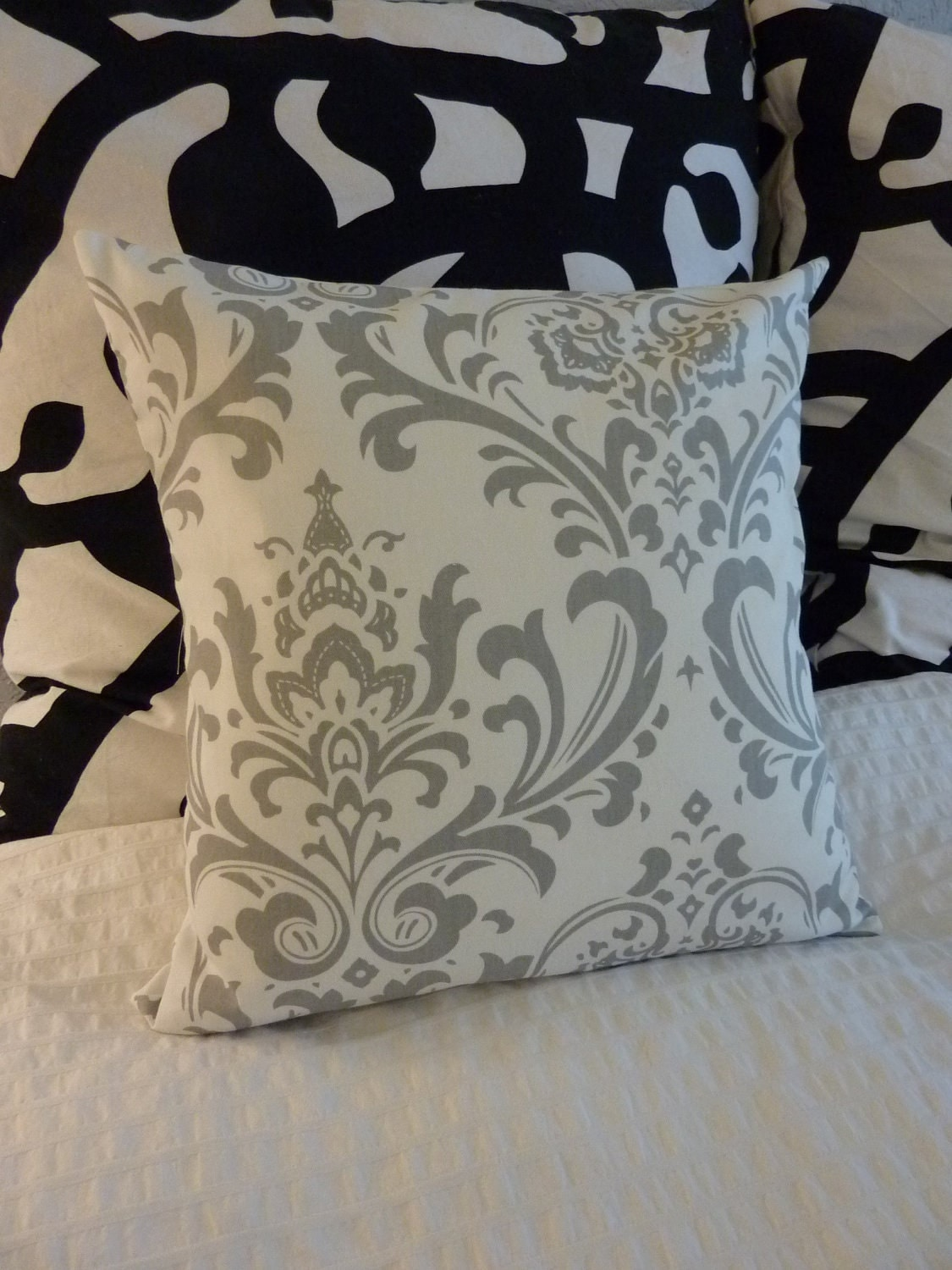 Decorative Pillows Cover- Premier Prints- Twill Traditions Storm Grey -  ONE 16x16