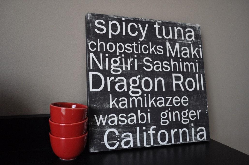 Sushi - 12x12 CAFE MOUNT