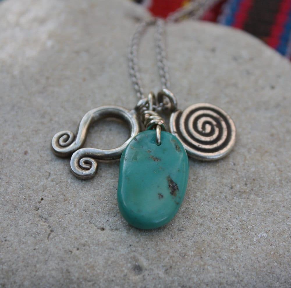 Turquoise Spiral Talisman