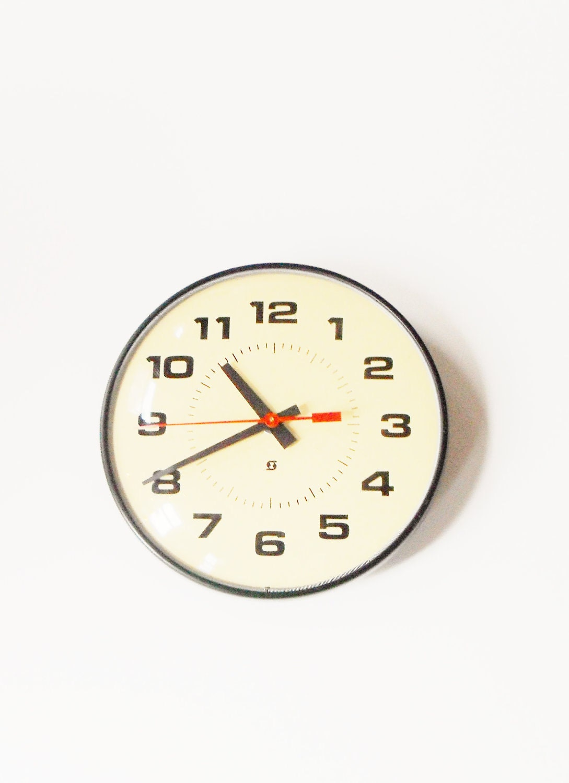 Vintage School Clock - WuvbearDesigns