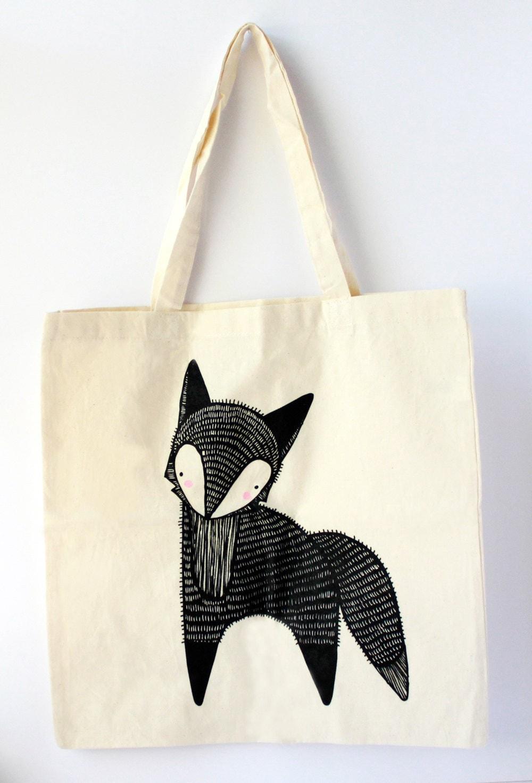 Blushing Fox Tote Bag by Gingiber