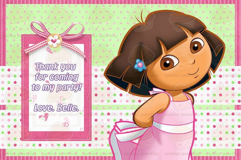 Dora Superstyle Printable Birthday Party KitCuties Parties – Printable Dora Birthday Invitations